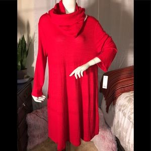 AP 9 BEAUTIFUL RED DRESS 👗 WITH  A SCARF ATTACHED
